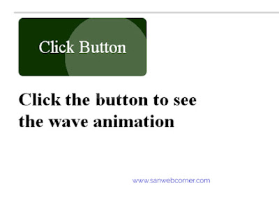 Wave animation on click the button using css