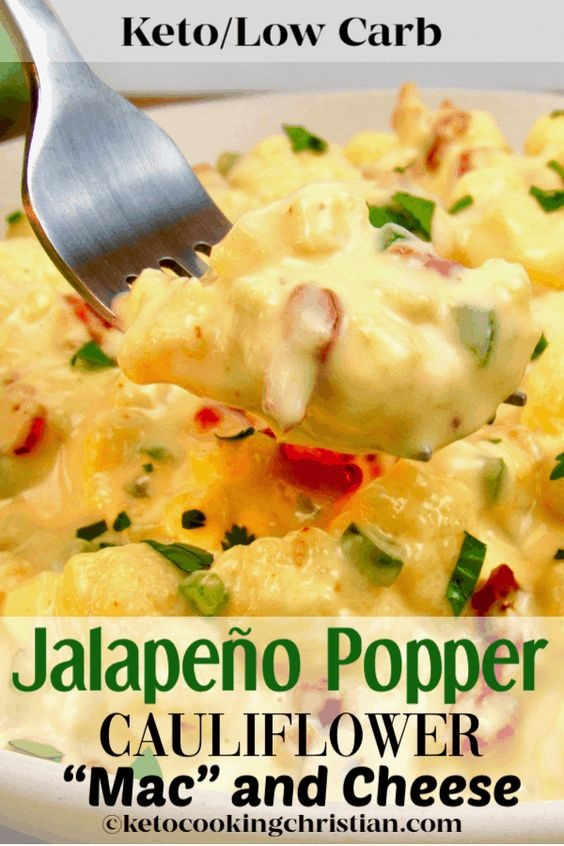 Jalapeño Popper Cauliflower 'Mac' And Cheese