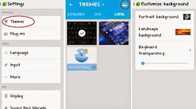 bagaimana Cara merubah Tampilan Skin Tema Keyboard Android dengan Foto Sendiri