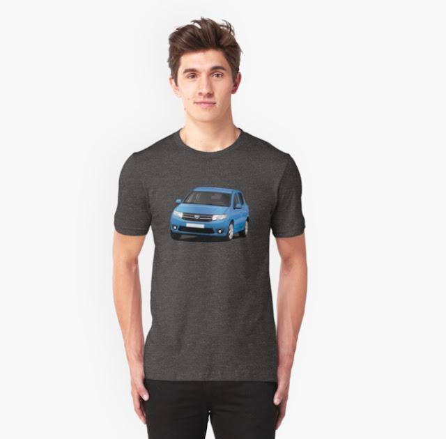 Dacia Sandero t-shirt Redbubble blue