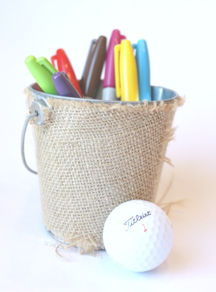 kid made colored golf balls gift idea
