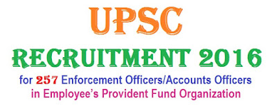 UPSC Special Recruitment 2016