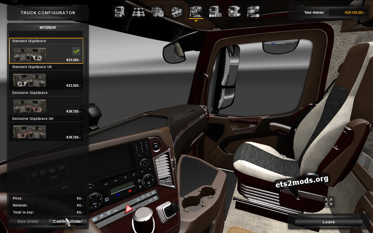 Brown Interior A Class for Mercedes MP4