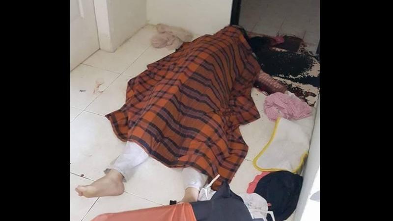 Kondisi mayat Rafika Hasanuddin saat ditemukan