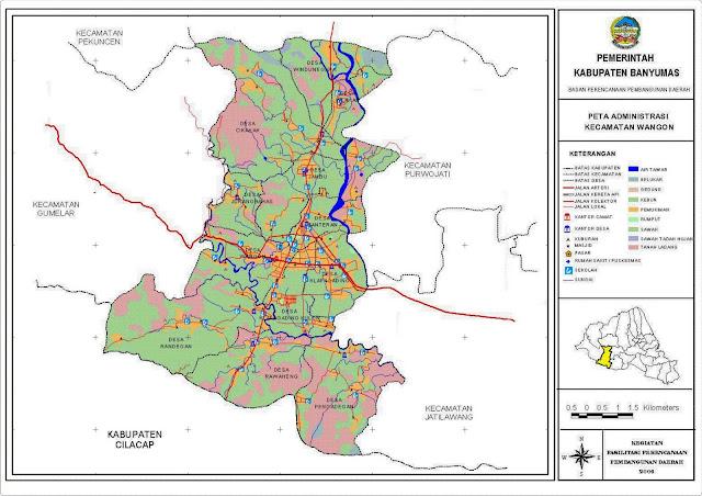Peta Kecamatan Wangon