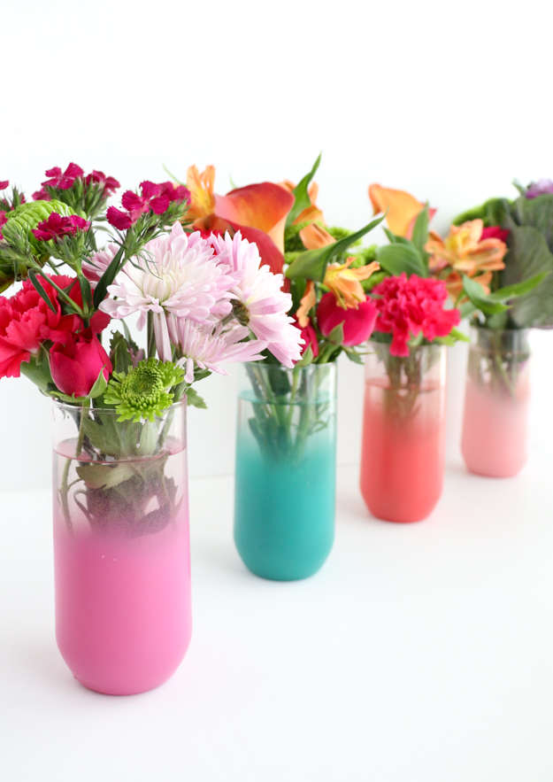 DIY It – Ombré Flower Vases