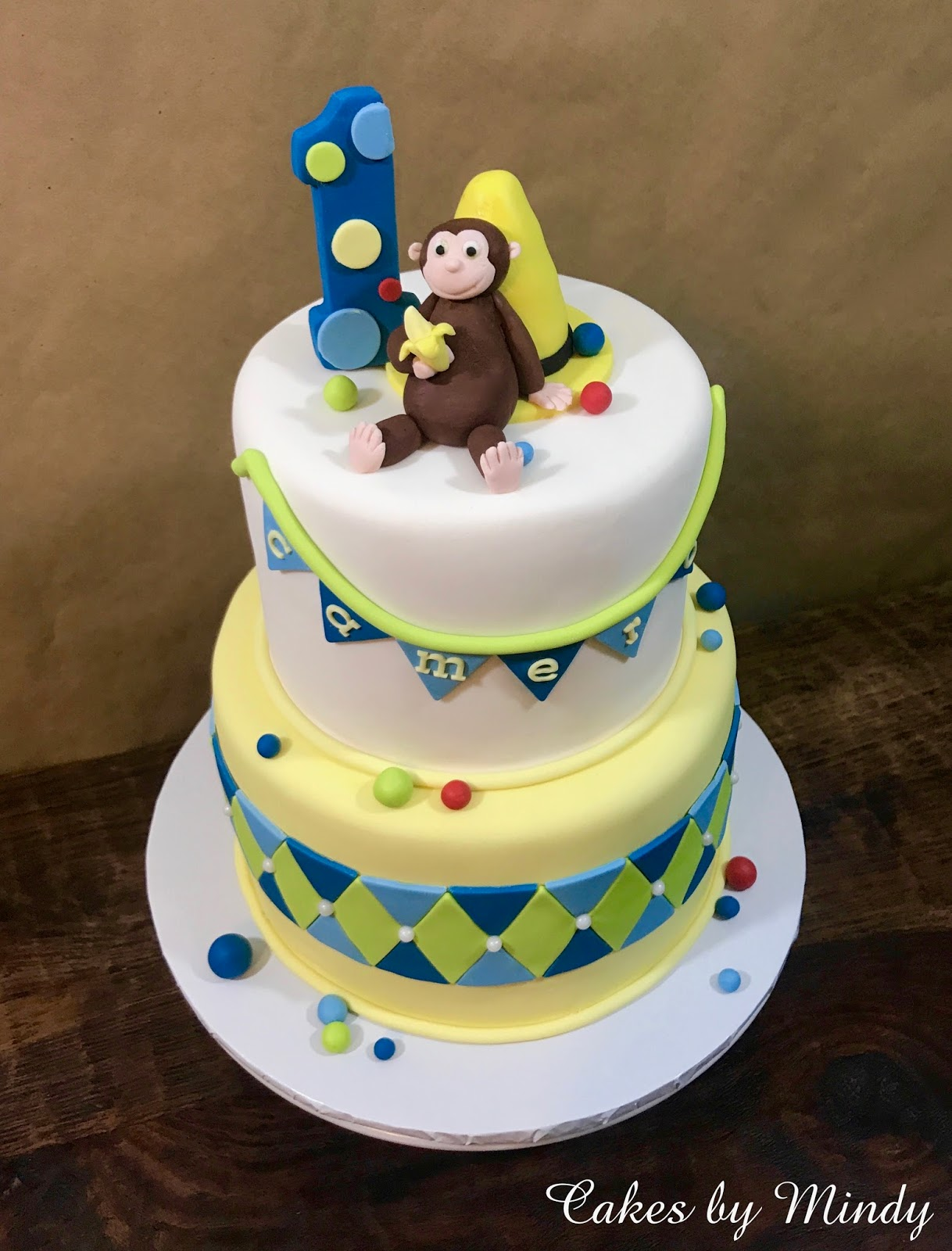 Cool Cakes By Mindy Curious George Birthday Cake 6 8 And Smash Cake 4 Funny Birthday Cards Online Sheoxdamsfinfo