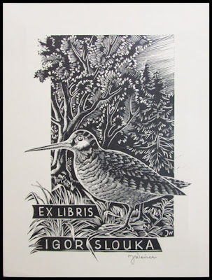 Wood engraving, bookplate, Josef Weiser
