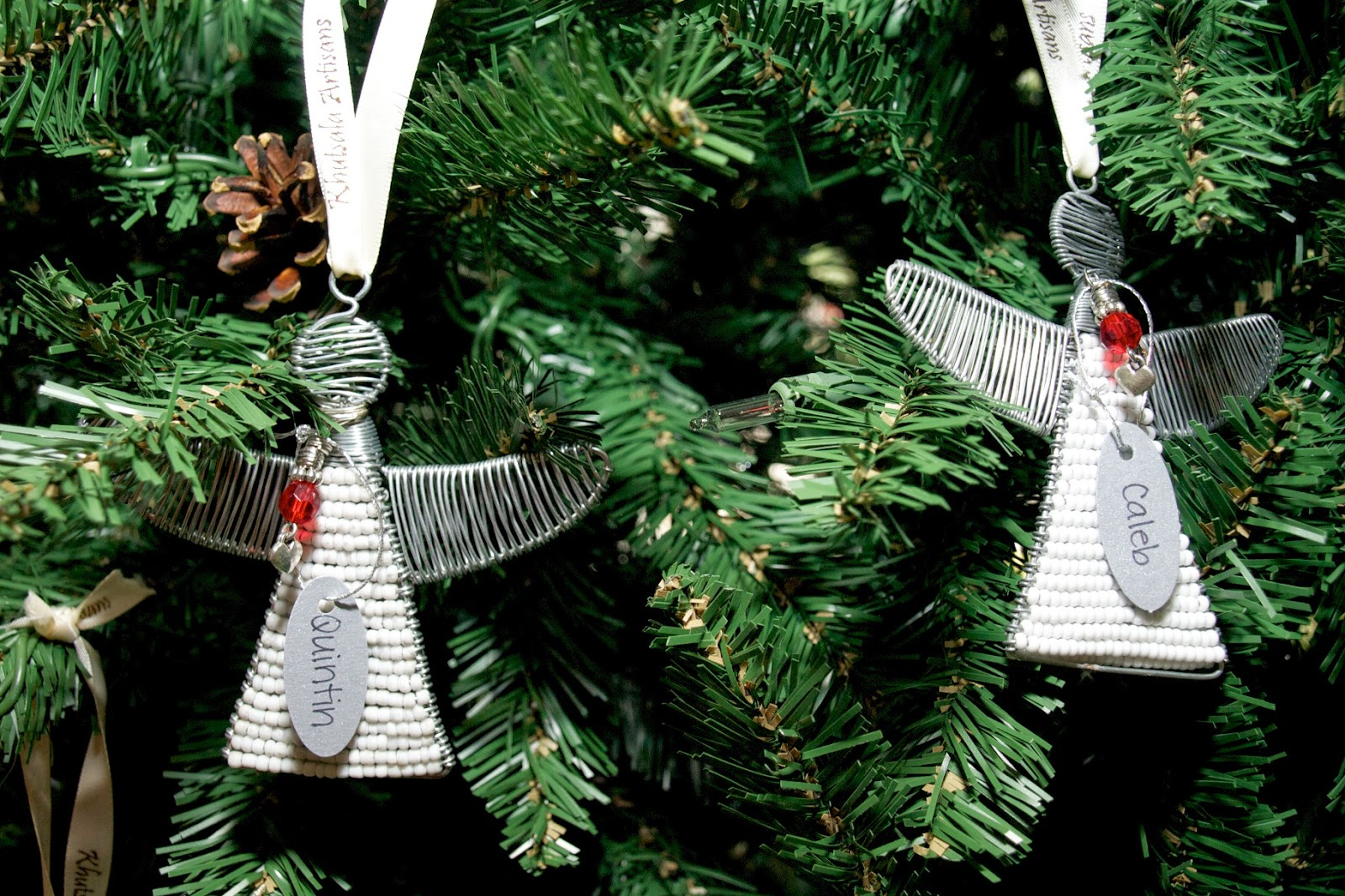 she bought 100 angel christmas tree ornaments to put on her own christmas tree - Angel Christmas Tree Ornaments