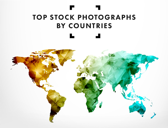 Top Stock Photographs By Countries