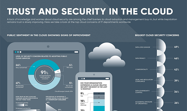 Trust and security in the cloud #infographic