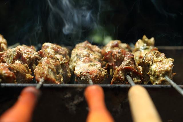 plancha, bbq, grill, brochette de porc au thym, sans gluten