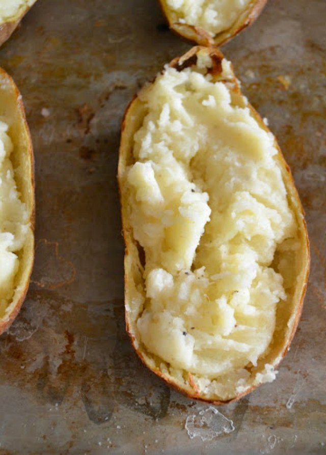 Stuff Twice Baked or Double Baked Potatoes from Serena Bakes Simply From Scratch.