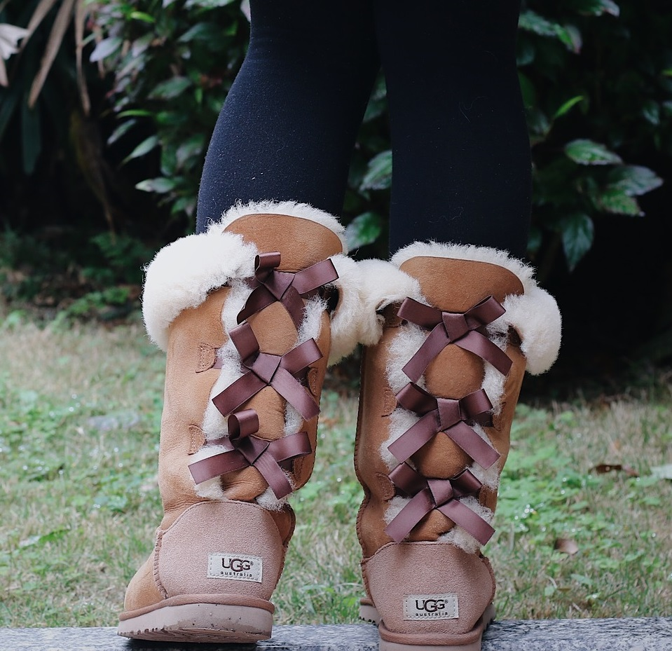 Take my Uggs. Another tale of slipping bare feet into a dark interior, this  time one that is lined with fleece. Instant comfort.