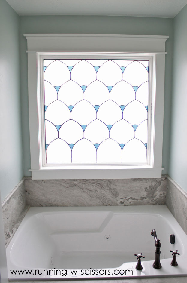 Stained Glass In Master Bathroom