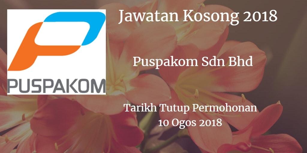 Jawatan Kosong Puspakom Sdn Bhd 10 Ogos 2018