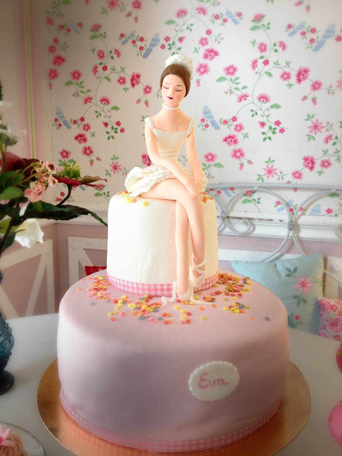 Victorias Cakes Tarta De Cumpleanos Bailarina Para Eva - Tartas-de-cumpleaos-sencillas-y-originales