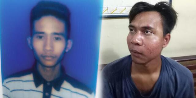 Tersangka pembunuhan sekeluarga di Medan.