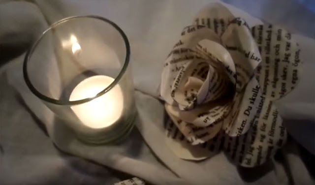 Cara Membuat Bunga dari Koran
