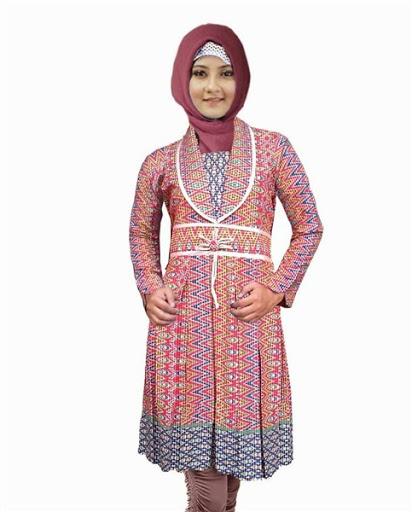21 Model Baju Batik Muslimah Modern Terbaru 2019 Atasan