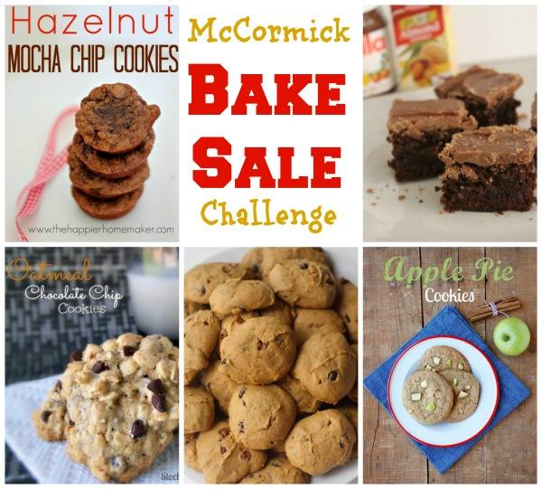 Visit for the McCormick bake sale challenge -- tons of inspiration on ways to jazz up plain cookies and brownies to make your sweets the hit of the bake sale.  #mccormickbakesale