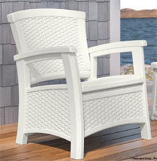 Suncast ELEMENTS® Club Chair with Storage, White
