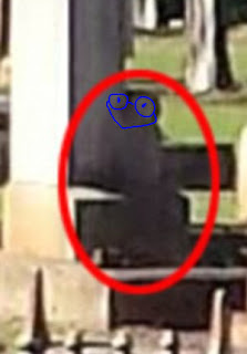Alleged 'ghost photo' in cemetery, Toowoomba, Queensland.