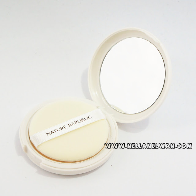 nature republic by flower powder pact swatch nellanelwan