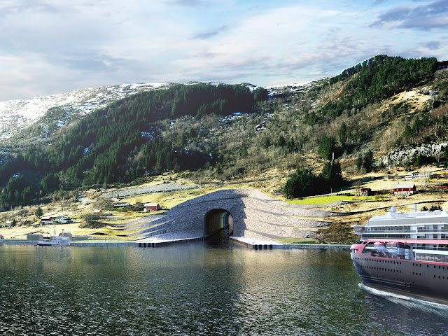 Norway wants to drill a mountain to create world's first boat tunnel