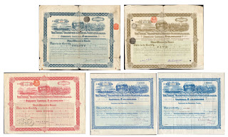 "share and stock certificates from the ""Shell"" Transport and Trading company"