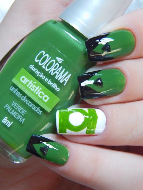 nail-art-lanterna-verde