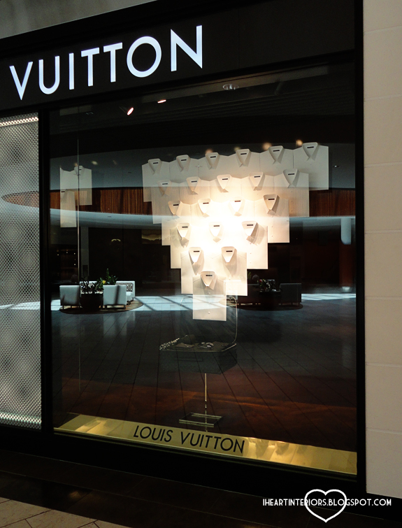 i heart interiors: Louis Vuitton Shirt Window Display
