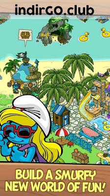 smurfs village hile apk