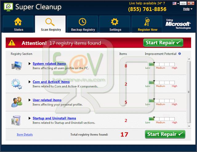 Super Cleanup (Falso optimizador)
