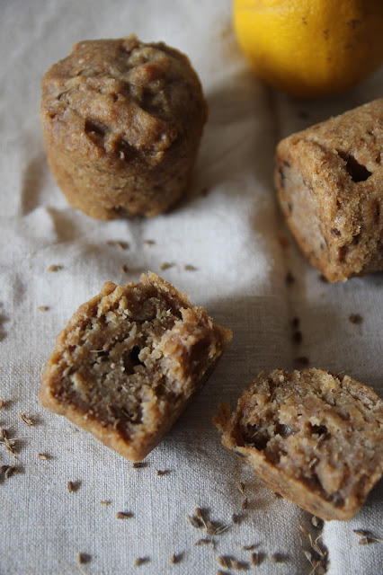 Muffins citron, anis et huile d'olive