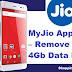 MyJio App Trick – Remove Daily 4Gb Data Limit