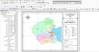 Membuat Template Layout ArcGIS melengkapi atribut peta