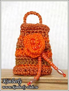 сумочка для куклы крючком
