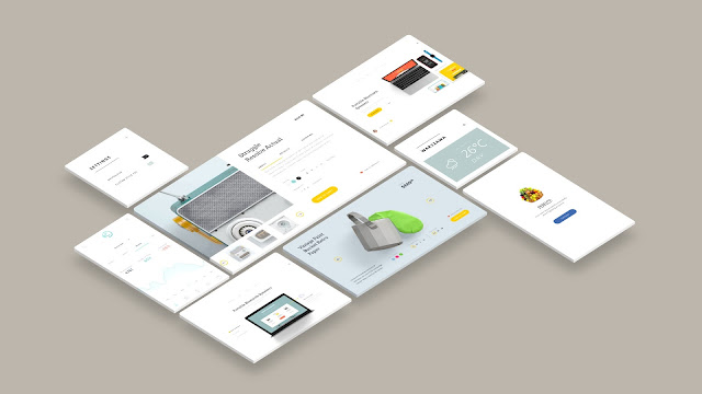 Free Web and App UI Screen Mockup PowerPoint Templates Slide 5