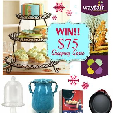 Giveaway | $75 Shopping Spree at Wayfair