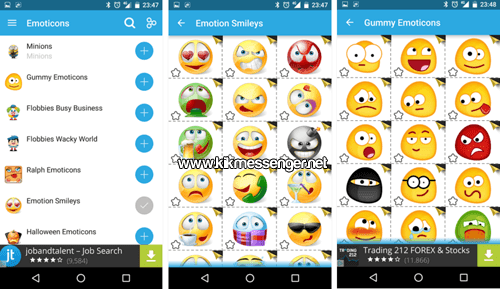 Divertidos emojis y stickers con Emoticon for Kik