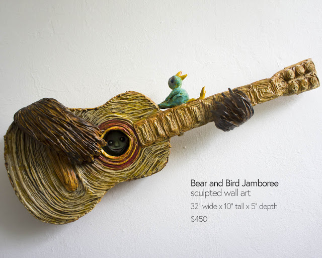 guitar sculpture wall art