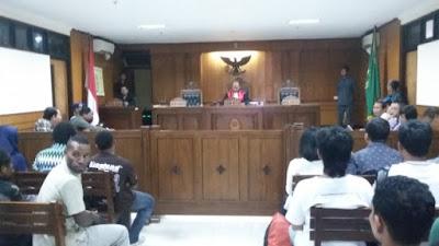 Hakim Tolak Gugatan Praperadilan Mahasiswa Papua di Yogyakarta