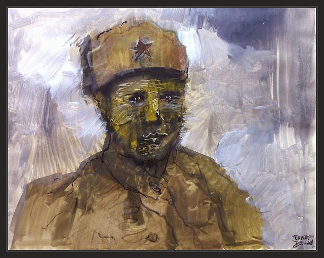 EJERCITO-ROJO-RUSIA-PINTURAS-ARTE-RED ARMY-ART-SOLDADOS-RUSOS-SIBERIANOS-HISTORIA-SEGUNDA GUERRA MUNDIAL-PERSONAJES-MILITARES-PINTOR-ERNEST DESCALS