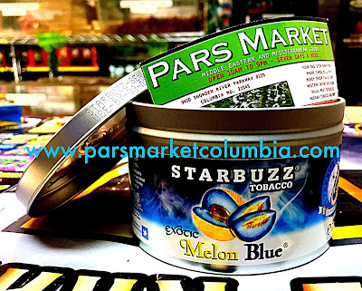 Exotic Melon Blue Flavor Starbuzz Shisha at Pars Market Howard county Columbia Maryland 21045
