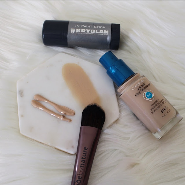 Customising foundation, foundation, covergirl, how to, marc jacobs, cover fx, nars, full coverage, kryolan tv paint stick