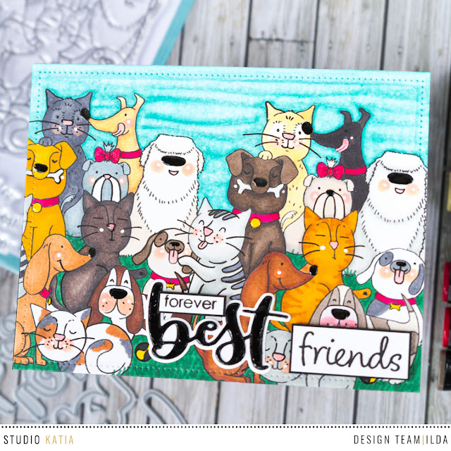 Forever Best Friends Card for the Daily Marker Blog Hop by Ilovedoingallthingscrafty