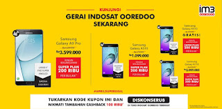 Harga Spesial 4 Samsung A series dengan Indosat Ooredoo (A3 2016 Gratis)
