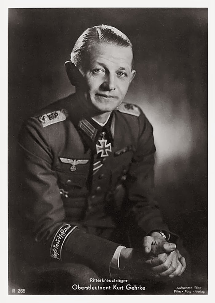 Kurt Gehrke Ritterkreuzträger Knight Cross Holder Postcard