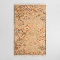 natural abstract flat weave rug
